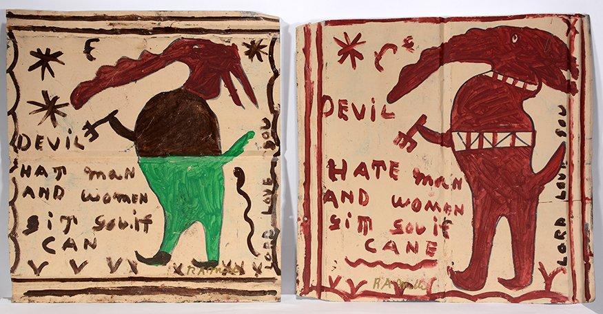 R.A. Miller. Devil Hate Man Pair.
