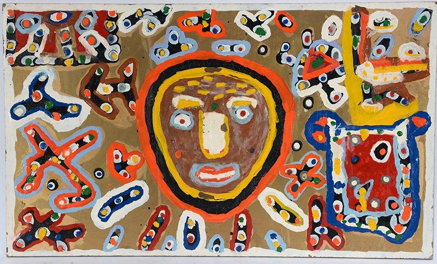 Richard Burnside. Portrait With Abstract.