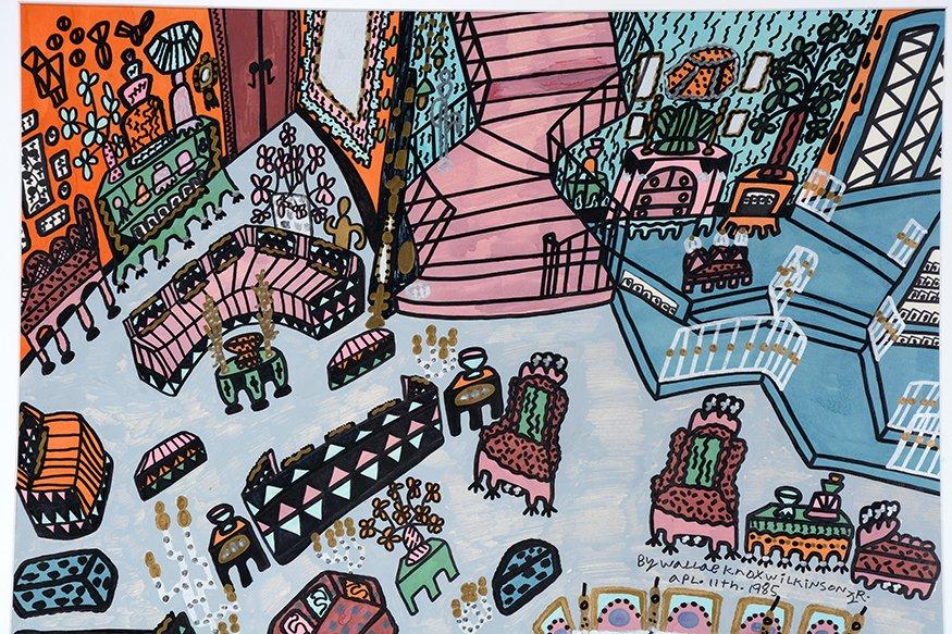Knox Wilkinson. Pink Stair Interior. - 2
