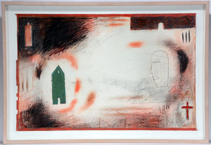 Bill Cass. Untitled With Green House.