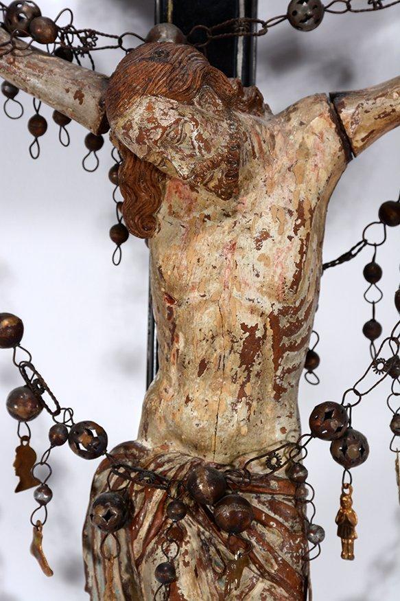 Religious Crucifix Masterpiece. c. 1800's. - 3