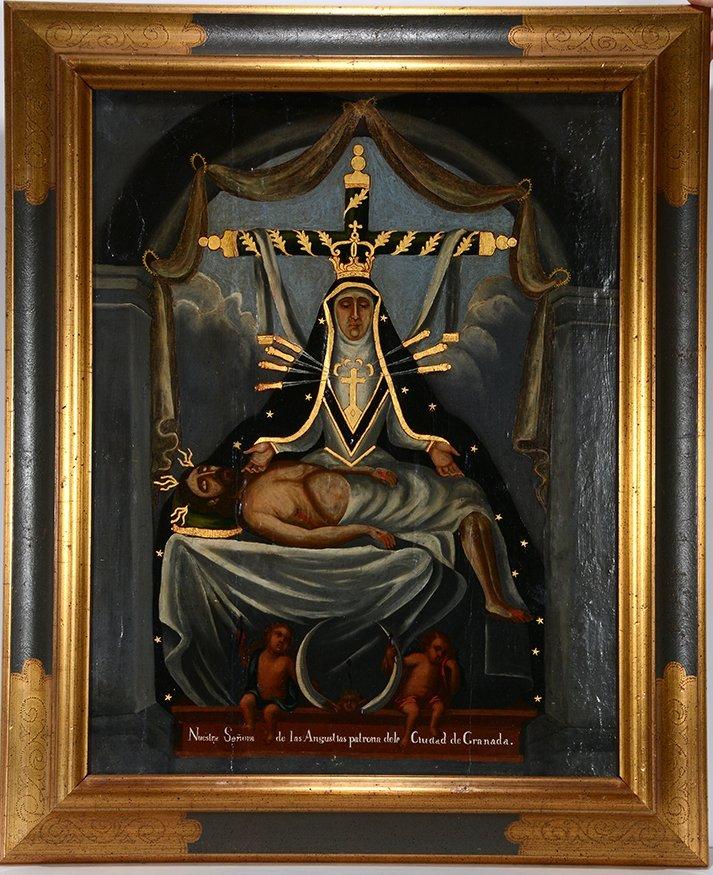 Religious Santo Nuestra Senora. c. 1800's. - 2