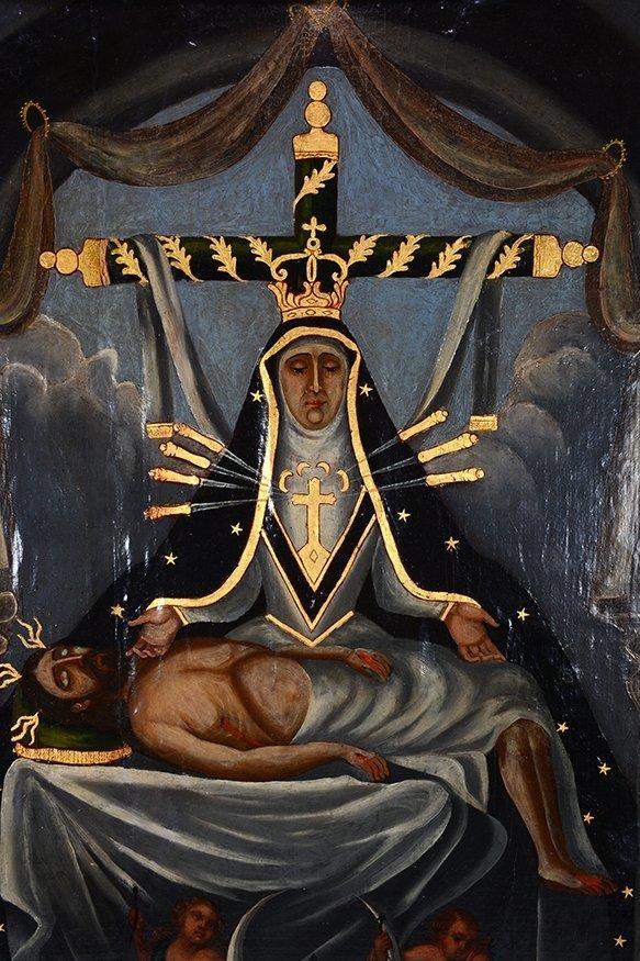 Religious Santo Nuestra Senora. c. 1800's. - 3