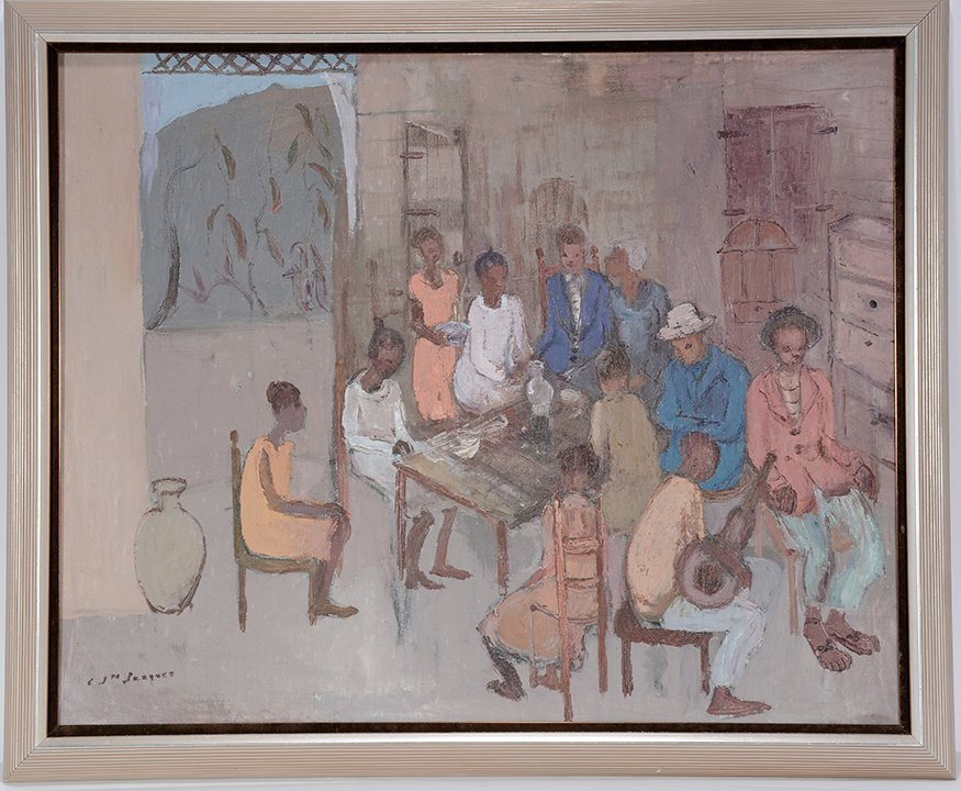 Carlo Jean Jacquets. Interior View Of People Around