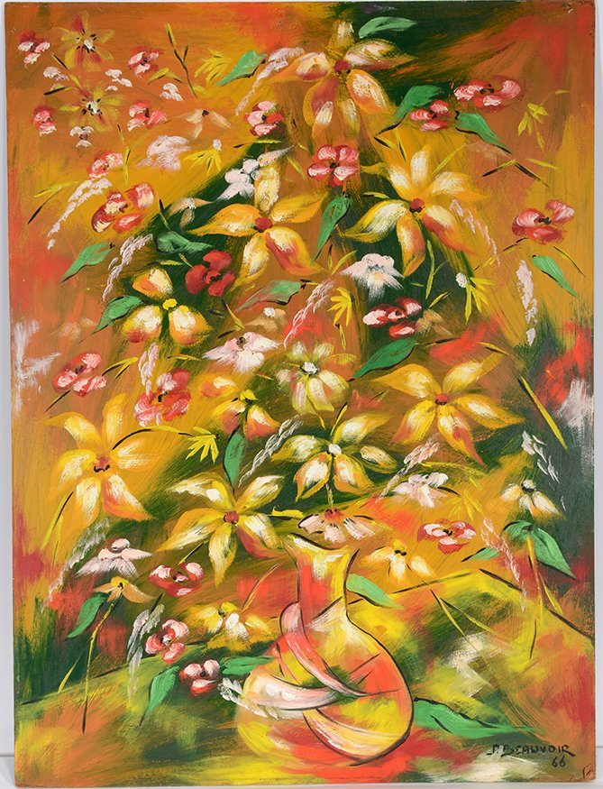 Paul Beovoir. Still Life With Flowers.