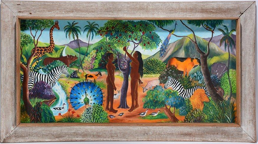 L. Pierre. Adam & Eve In The Garden.