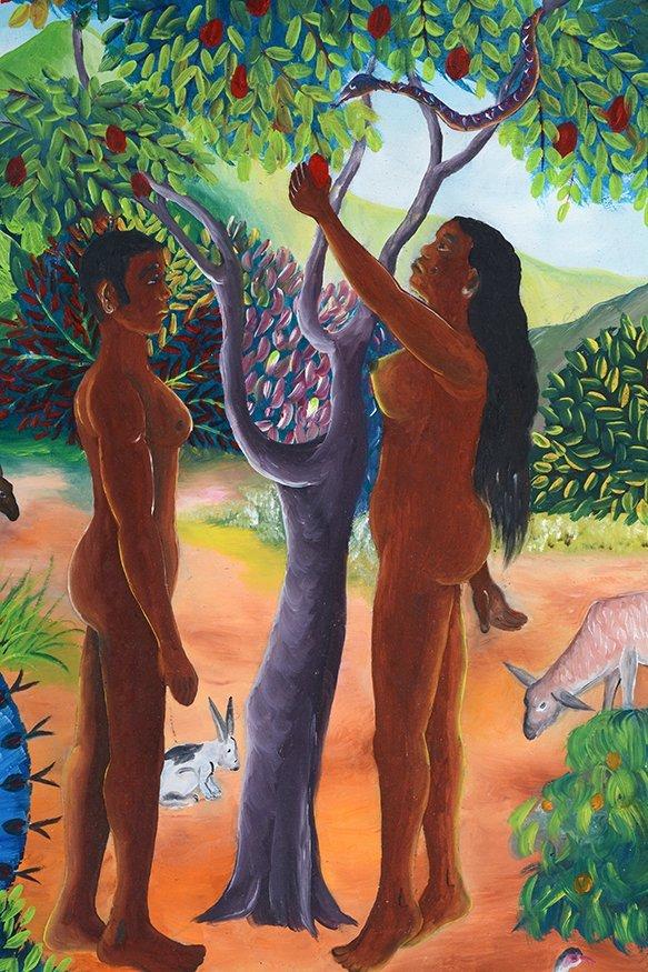 L. Pierre. Adam & Eve In The Garden. - 3