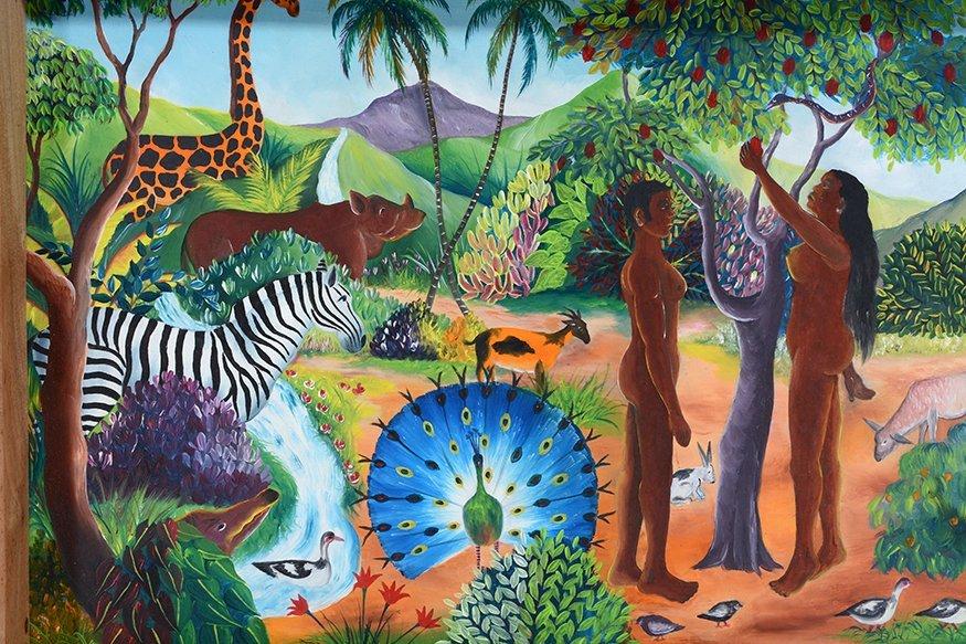 L. Pierre. Adam & Eve In The Garden. - 4