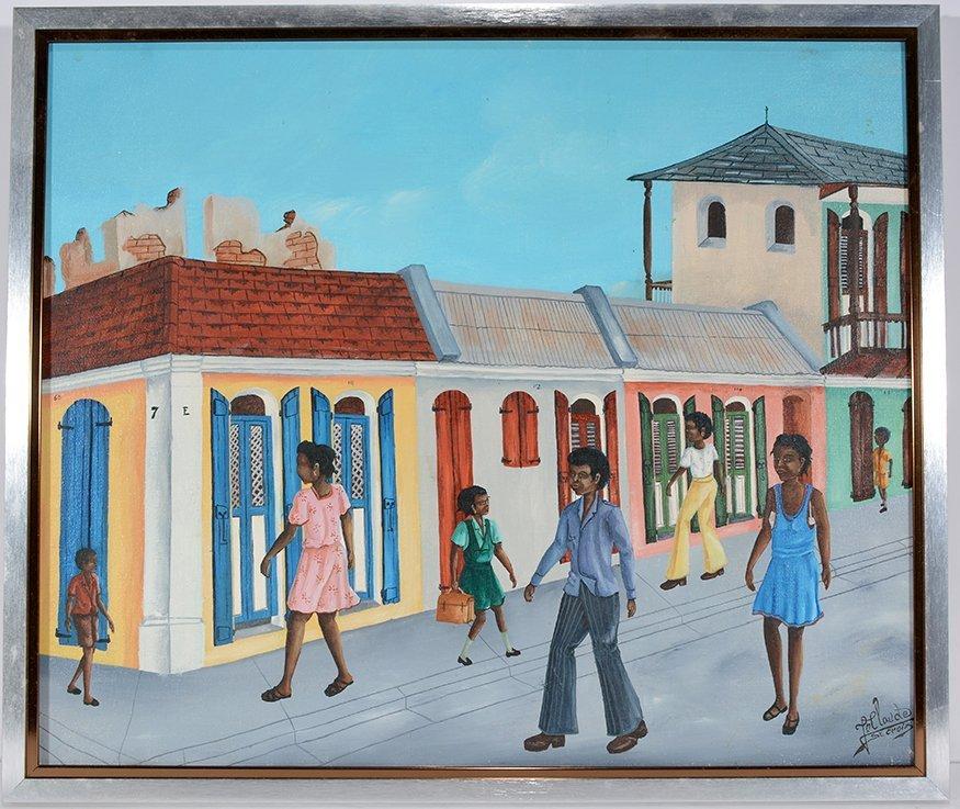 Jean Claude St. Croix. Street Scene.