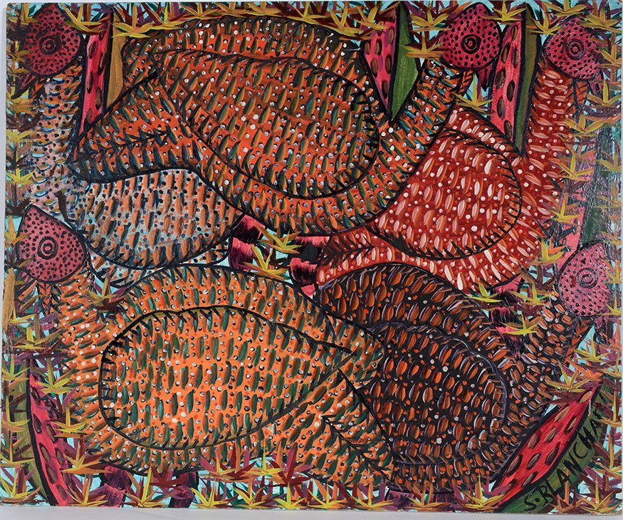S. Blanchard. Red Forest Hens.