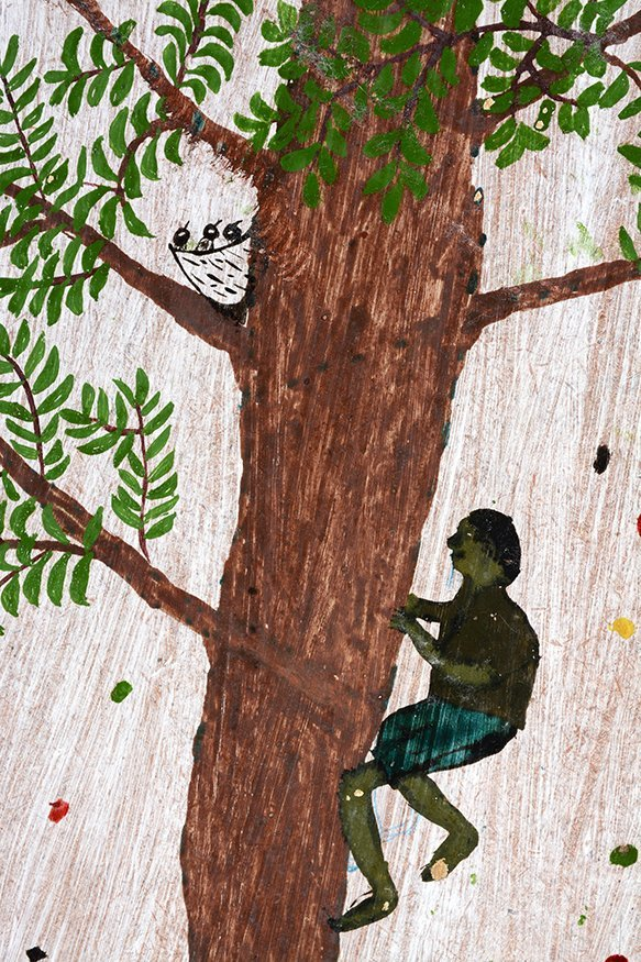 Pierae. Boy Climbing Tree. - 3