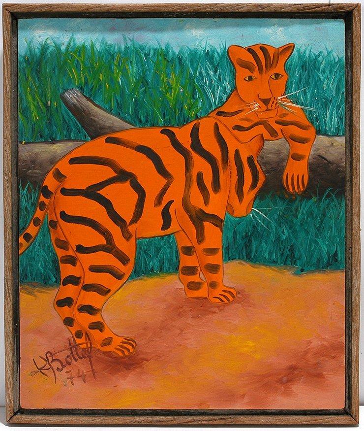 K. Bottef. Two Leopards.