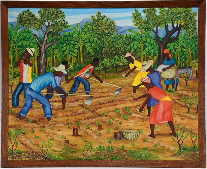 G. Leveque. Working In The Fields.