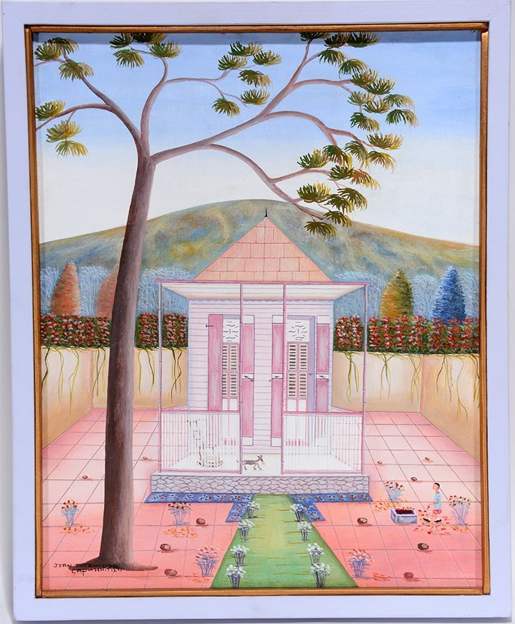 Jean Thermidor. Bad Dog In Pink House Yard.