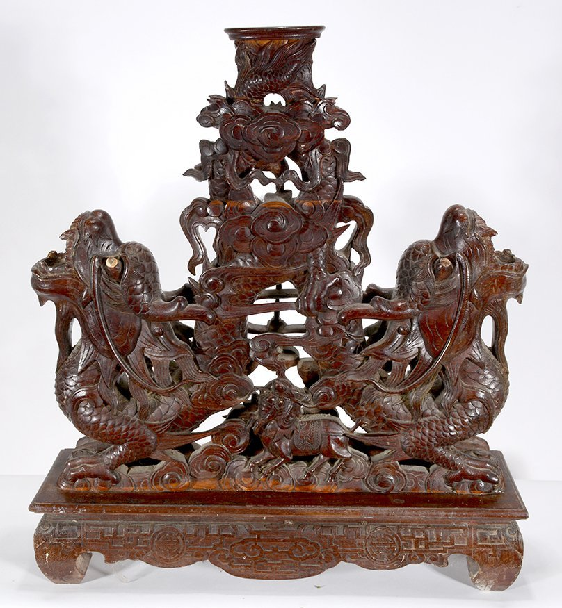 Chinese Double Headed Dragon Table Base.