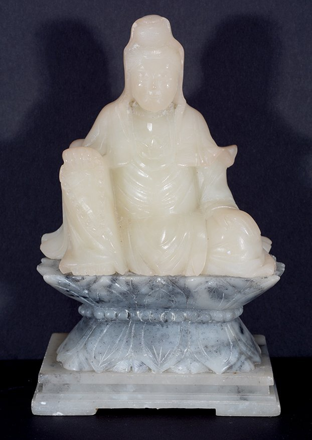 Chinese Cream-Colored Jade Figure.