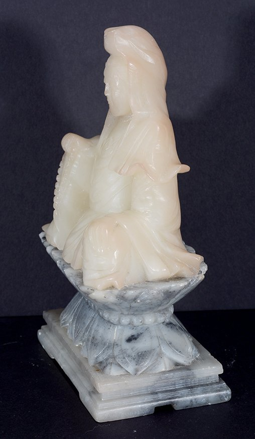 Chinese Cream-Colored Jade Figure. - 3