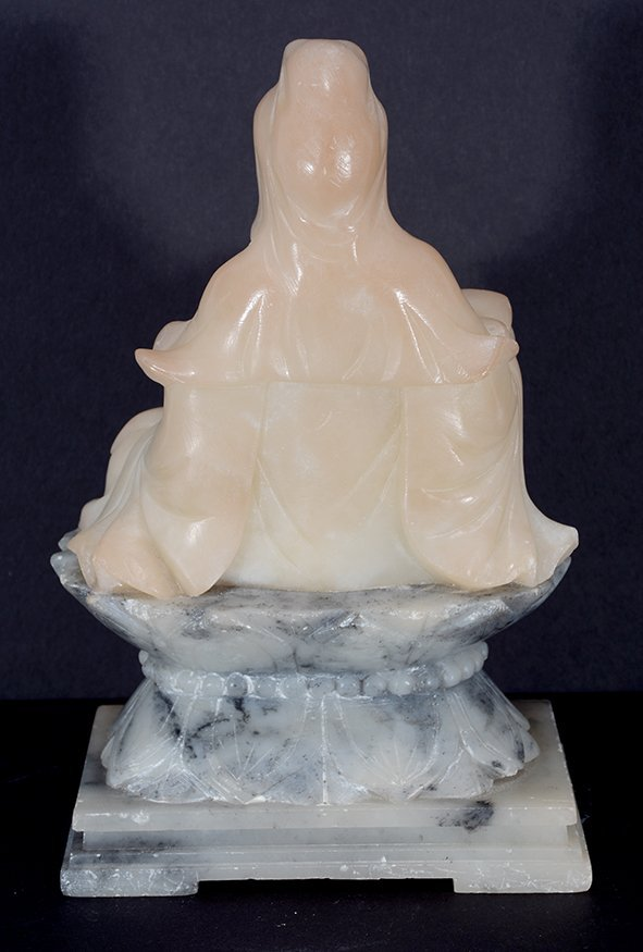 Chinese Cream-Colored Jade Figure. - 4