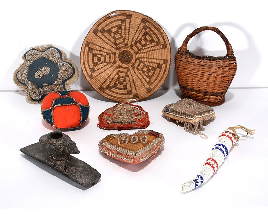 Native American Baskets And Bead Work.