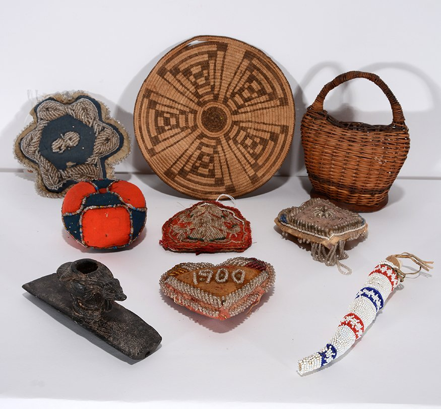 Native American Baskets And Bead Work. - 2