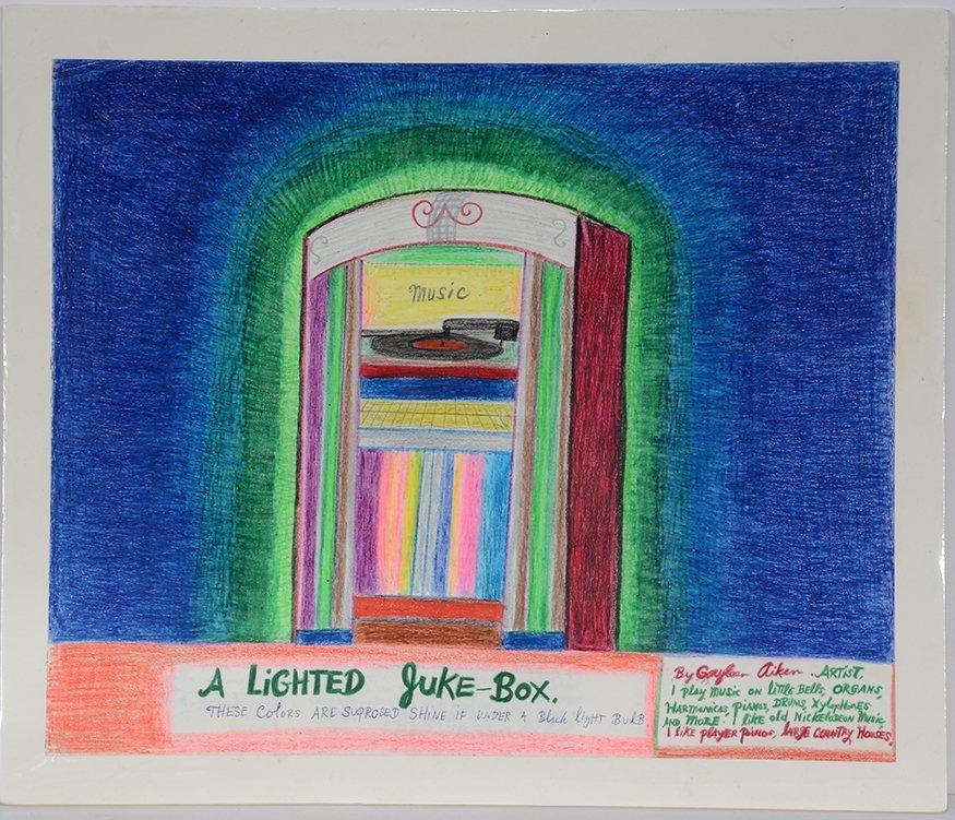 Gayleen Aiken. A Lighted Juke Box.