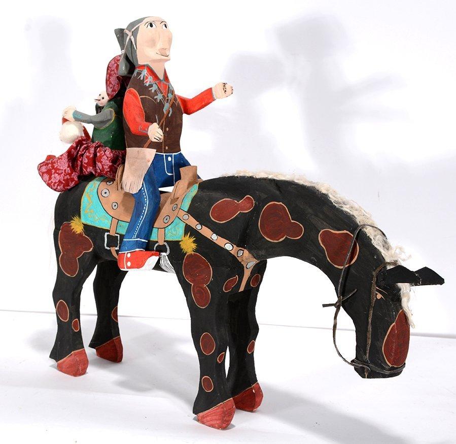 Delbert Buck. Couple On Horseback.