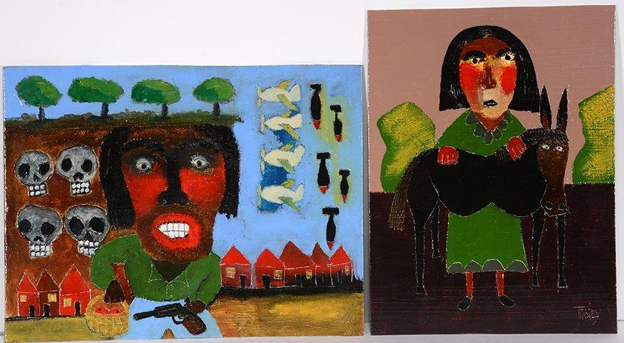 David Tinsley. Pair of Works.