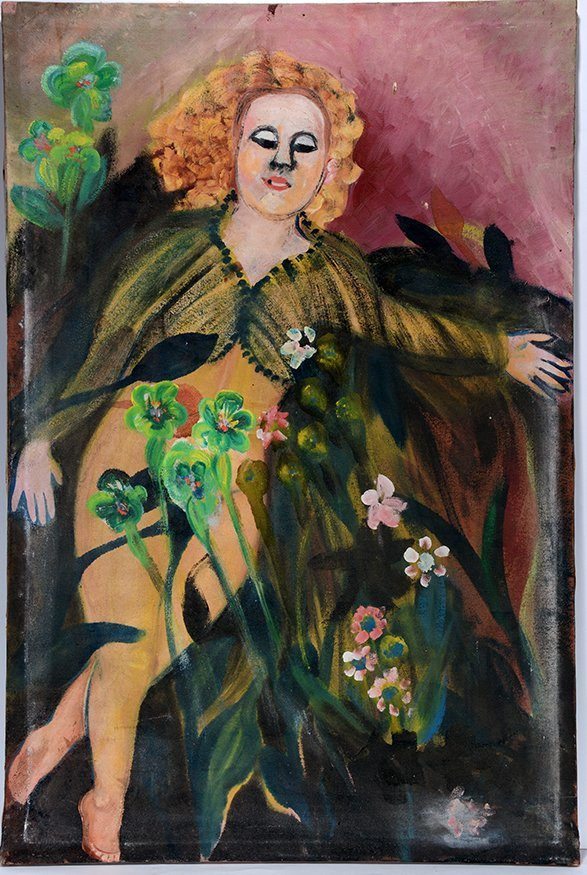 Ursula Barnes. Young Woman In Field Of Flowers.