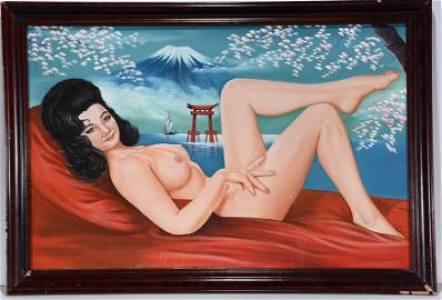 Anonymous Japanese Nude Pin-Up Girl. c. 1940-50's.