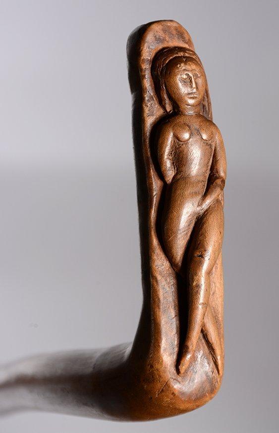 Erotica Nude Woman Handle Cane.