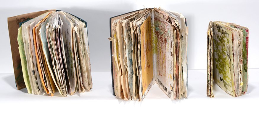 Purvis Young. Three Painted Books.