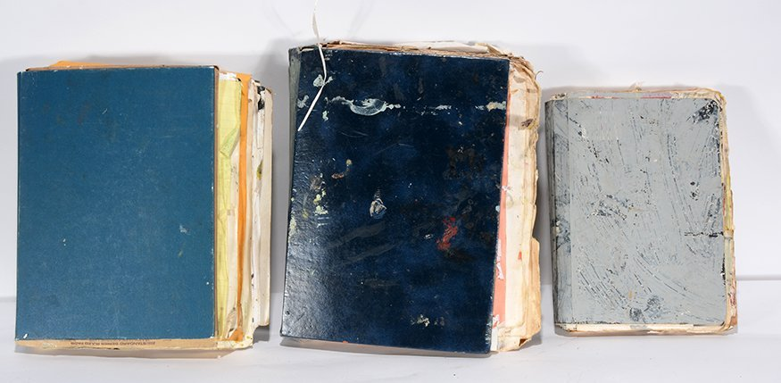 Purvis Young. Three Painted Books. - 2