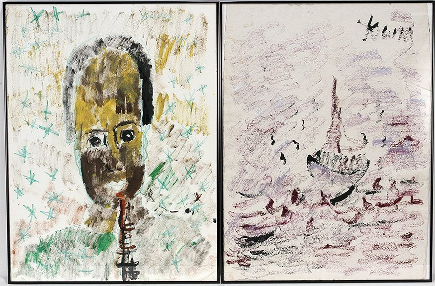 Purvis Young. Face and Boat Paintings.