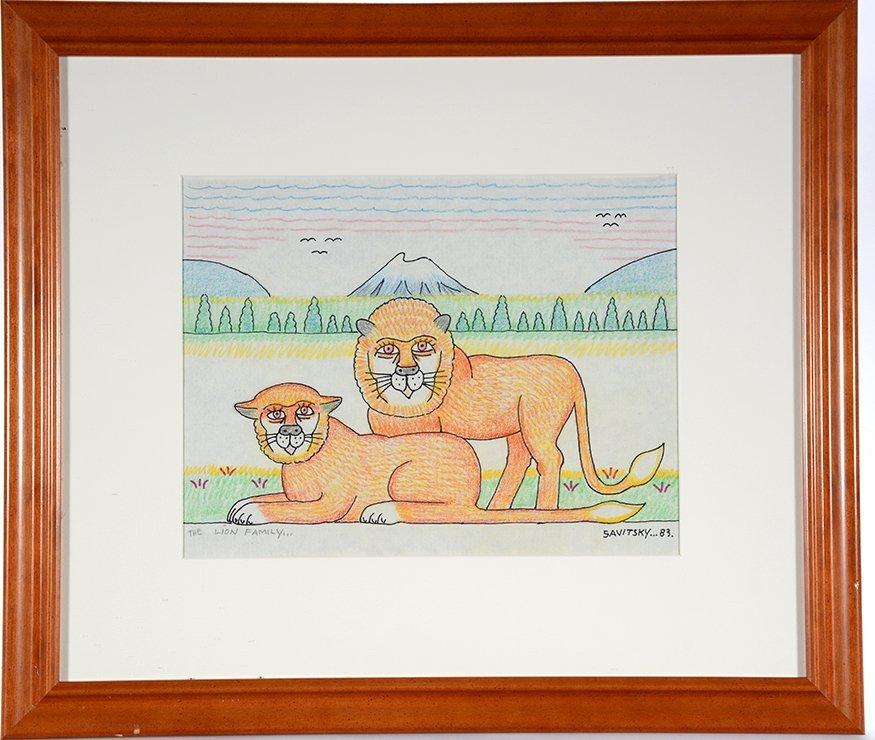 Jack Savitsky. The Lion Family.