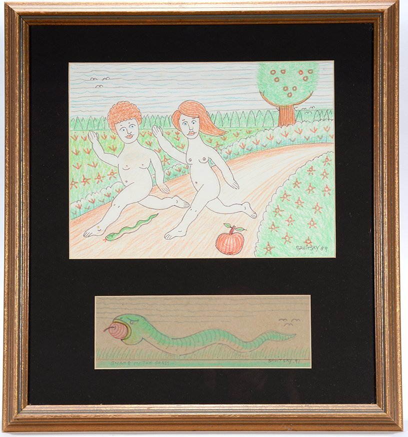 Jack Savitsky. Adam & Eve With The Snake.