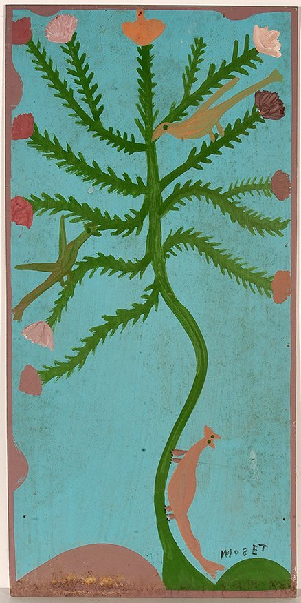 Mose Tolliver. Birds On A Flowering Plant.