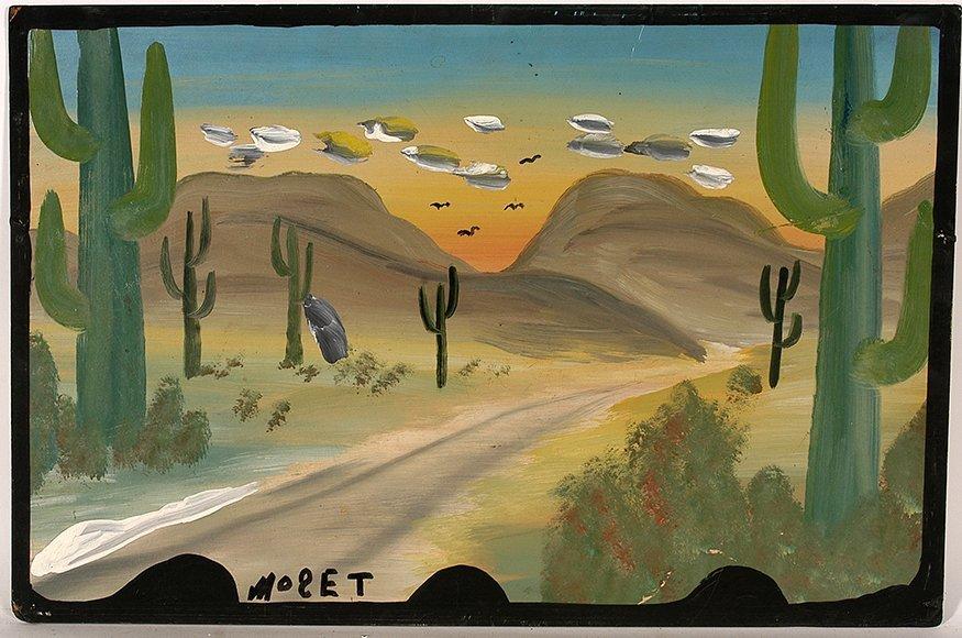 Mose Tolliver. Cactus Scene.