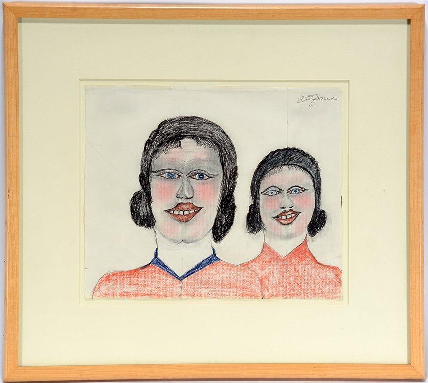 S.L. Jones. Double Portrait.