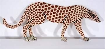 Howard Finster. Small Leopard.