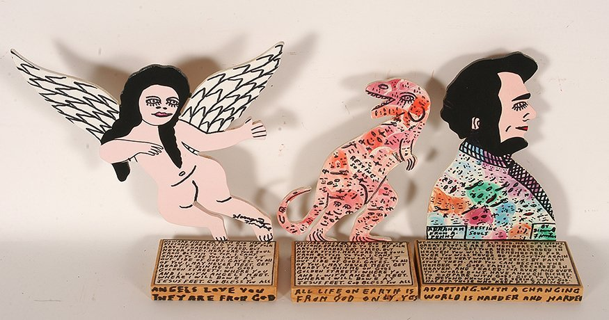 Howard Finster. Group Of Three Works.