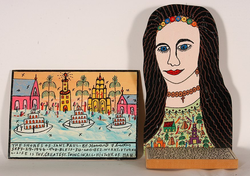 Howard Finster. Pair of Works.