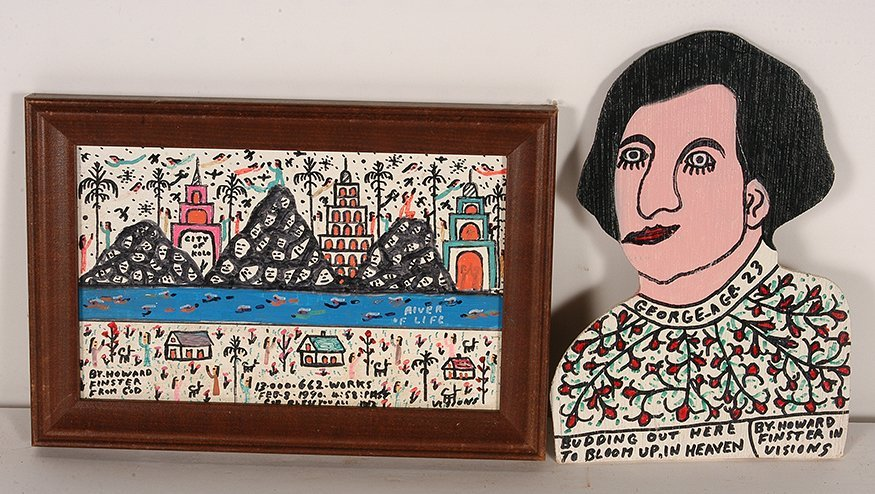 Howard Finster. George Age 23 & River Of Life.