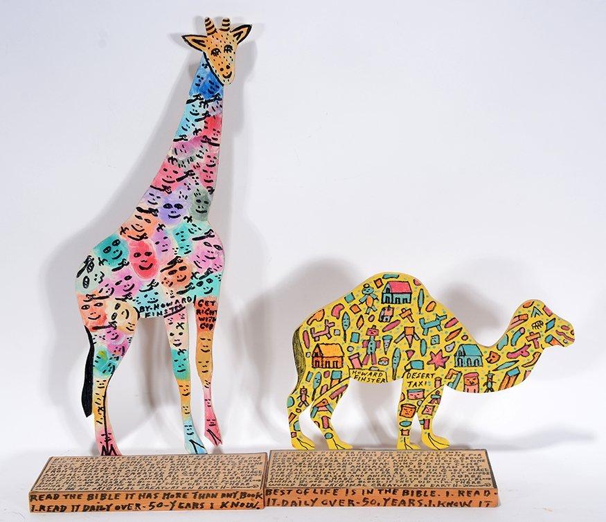 Howard Finster. Giraffe & Camel.