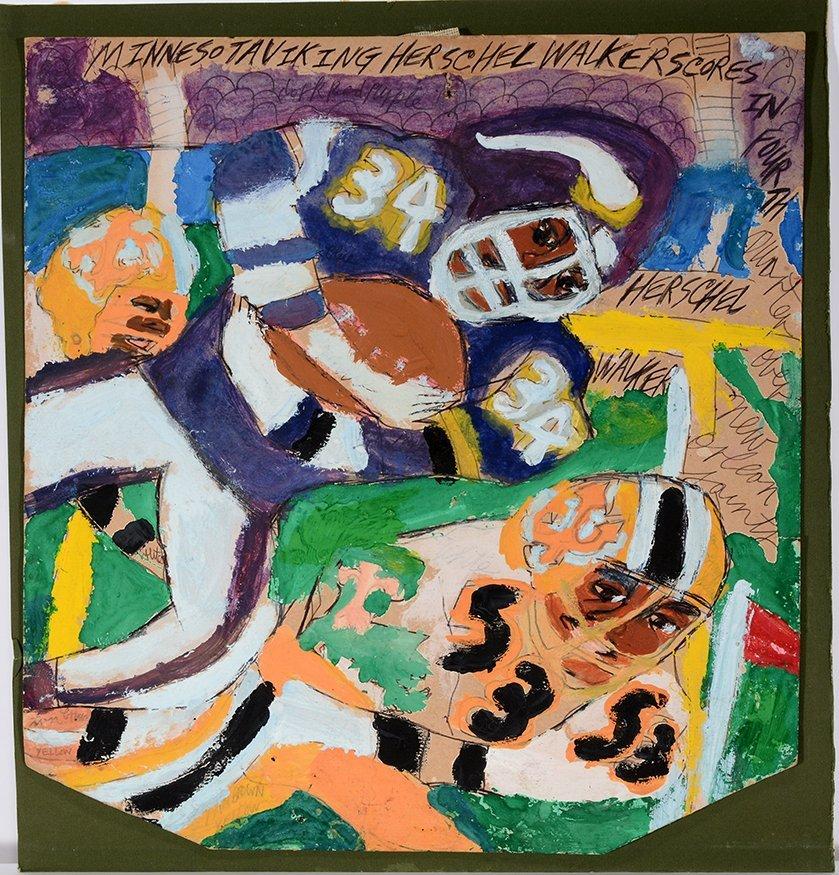 Artist Chuckie Williams. Herschel Walker.