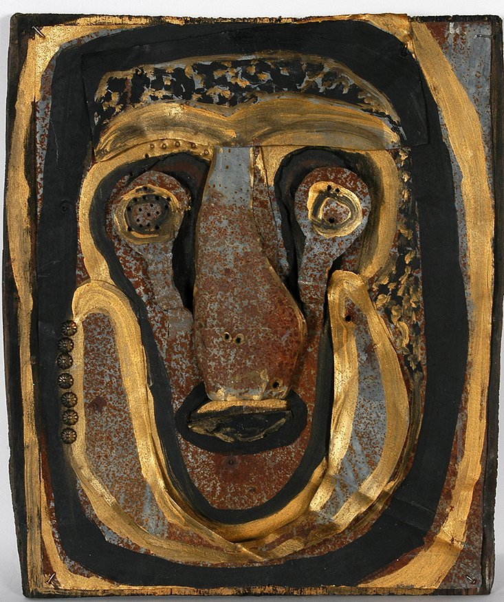Jerry Coker. Face In Gold.