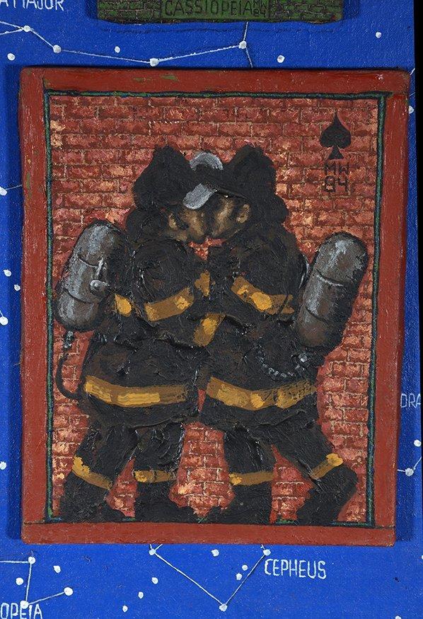 Kissing Firemen. - 2