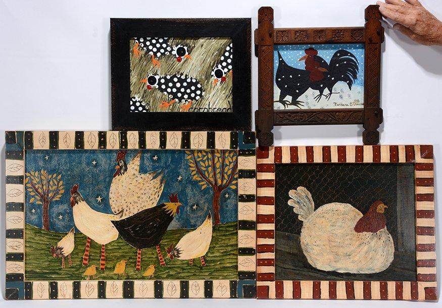 Cornbread, B. Strauser, Liz. Group Of Hens.