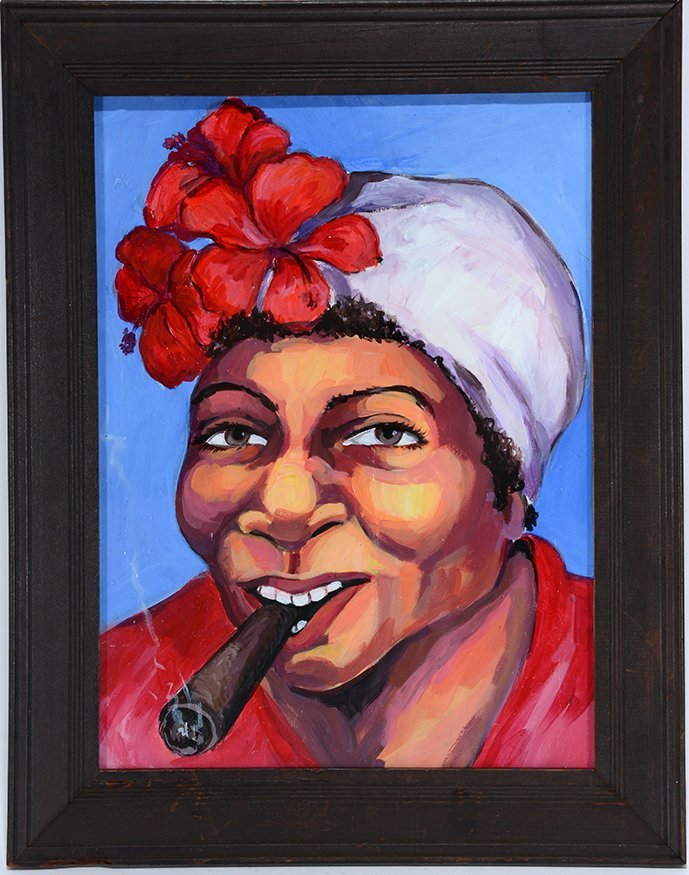 Haridia Flamos (Attrib.). Cuban Tobacco Girl.