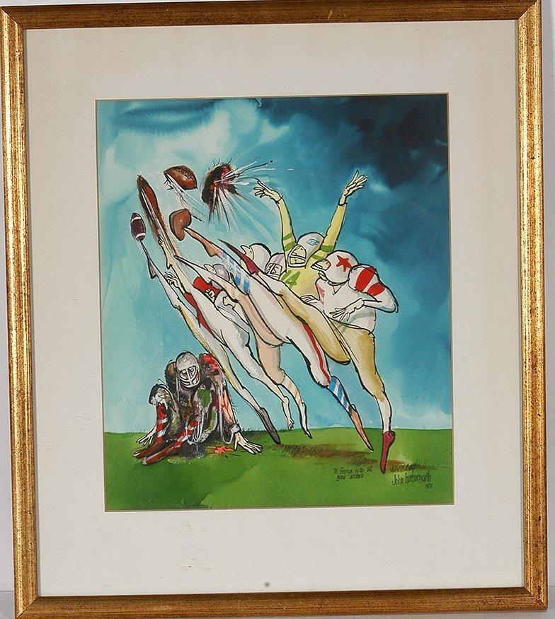 John Huehnergarth. Original Illustration From Argosy