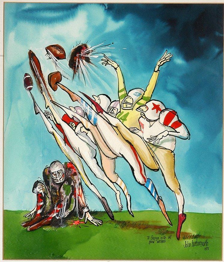 John Huehnergarth. Original Illustration From Argosy - 2